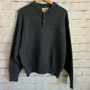 Cabela's  Sweater, Wool, Leather Elbow Patches, M